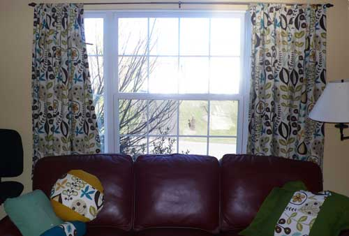Tab top curtains.